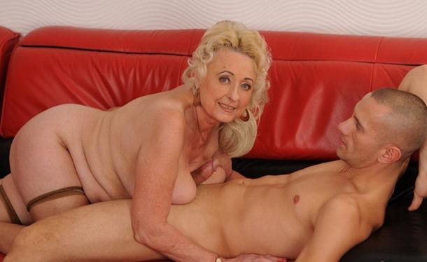 slutty granny in action