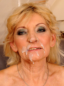 cum drenched granny